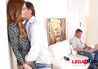 Jealous girlfriend Misha Cross gets that Tight Ass DP'_ed by Business partners GP022