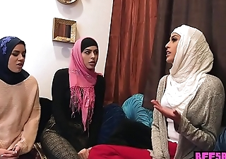 Muslim teen bride and BFFs have a passion a BBC at bachelor party