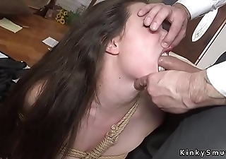 Gaping hole slave gets anal fucked