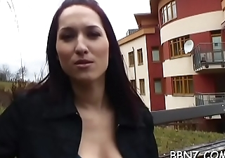 Breathtaking hotty is being tempted close to have public sex