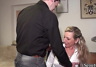 Step-Bro Caught German MILF Sister in Chat and Fuck her Anal