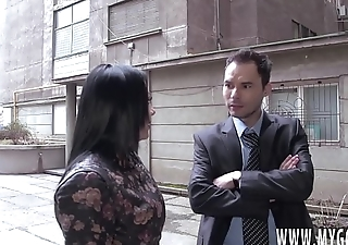 A Fake Real Estate Agent And His Friend Trick This Young Brunette Teen Into A Nasty MMF Threesome And Shoot Their Cum On all sides Over Her (incl. scene interviews)