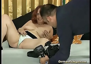chubby redhead white-headed boy up for her first porn video