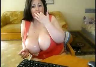 chubby milf with pretentiously sweaty breasts