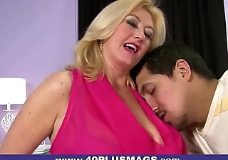 Blonde MILF fucked by a horny Latino