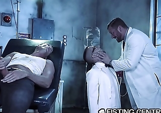 Daddy Doctor &amp_ His Broad in the beam Dick Monster Have sex Nerdy Assistant