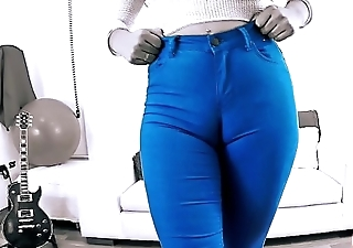 EPIC Deep CAMELTOE In TIGHT BLUE JEANS and With a BIGASS Crack