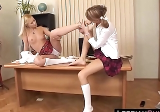 Nancy Schoolgirls Subservient Fucking at Director'_s Room ➨ LesbianCUMS.com