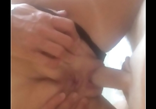 My mums sexy friend seduced in black sexy thong