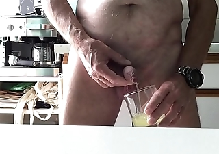 pissing and drink