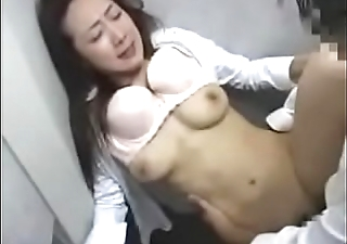 Japanese Lady in Elevator 4