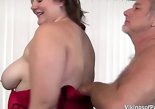 Big Beautiful Woman Slut gets the brush big fat aggravation some firm spanking