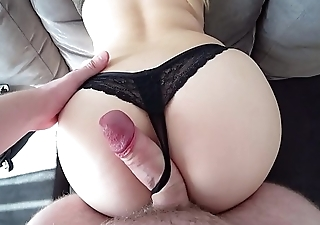 Doggystyle with big ass through thongs