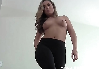 Deduct me carry out my yoga and I will help you cum JOI