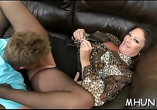 Sexy milf gets seduced by a stud and fucked hard later on