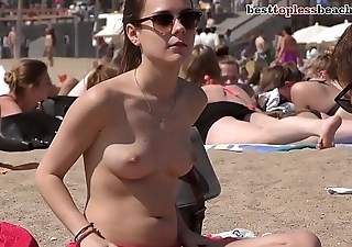 Wonderful brunette mollycoddle Imported on the Beach