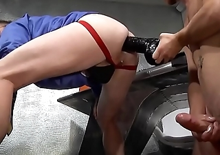 Huge Toy and Deep Extreme Fisting at the Office