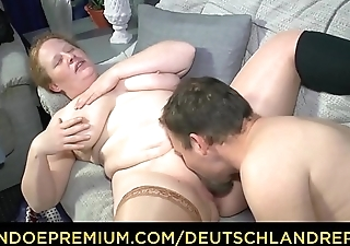 DEUTSCHLAND REPORT - Chubby German matured minx swallows full load