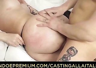 CASTING ALLA ITALIANA - Farcical sex session with cocktail lounge amateur