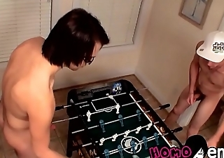 Emo twink blowing straight opponents dick as a reward