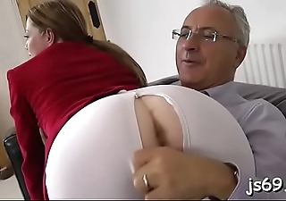 Lascivious gentlemen fucking her in the mouth and in the slit