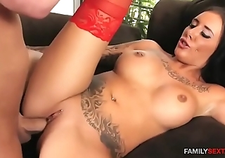Step daughter plays cowgirl on daddy'_s cock