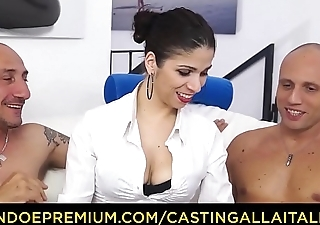 CASTING ALLA ITALIANA - Italian babe Deborah Sorrentino gets DP in hardcore triple with Omar Galanti