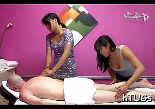 Hot masseuse gives him a little greater amount than just a rub