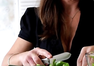 Naughty Auntie Cooks a Creampie for Nephew