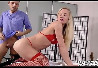 Frisky chick is pissing around previous apropos her paramour fucks her