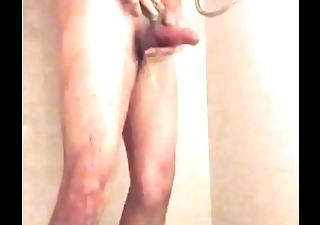 Solo hank hill assed boy takes hot shower and tugs hard upstairs his thick cock after a little bit of assplay