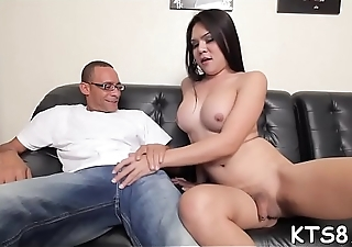 Sheboy spreads legs to get her anal hole penetrated deep