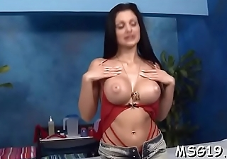 Hot hottie takes off jeans and blouse be worthwhile for full body massage