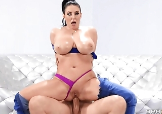 Curvy goddess analyzed by bruiser in various ways