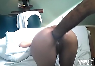 Brutal anal fisting and white mule bottle fuck