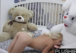 Erotic model Nika N primary time sex on camera wih teddy live Jack[part1]