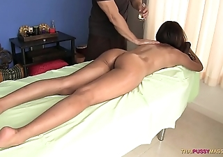 Thai pussy degree open on massage table