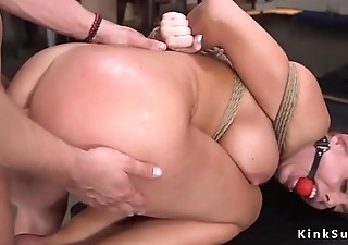 Illegal blonde slave anal fuck training