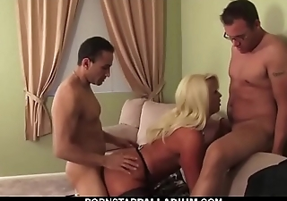 Blonde With Bombing Tits Gets Plowed
