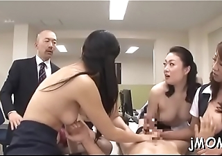 Nice-looking mature gives head together with gets her jairy pussy team-fucked
